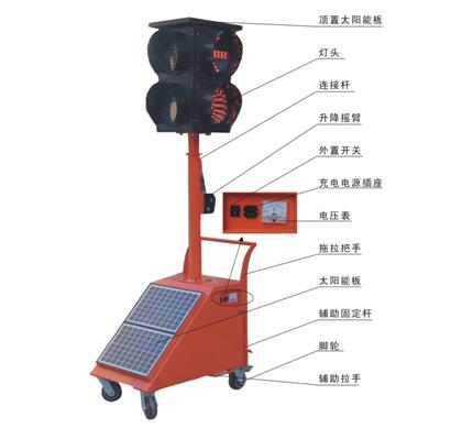 HD 4C太阳能多相位移动信号灯