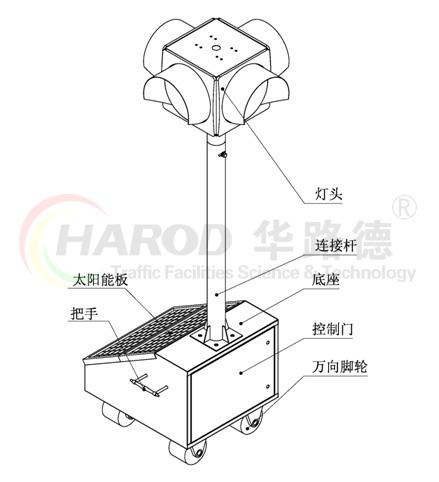太阳能移动信号灯结构图